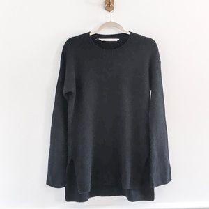 Athleta Black Wool Cashmere Bell Sleeve Sweater